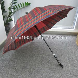 Good Quality Decorative Colorful Straight Automatic Mens Walking Stick Inside Hidden Umbrellas with Special Custom for Old Person