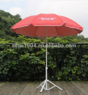 Promotional Custom Printing Logo Outdoor Windproof Sun Protection Beach Parasol Umbrellas for Advertising