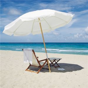 High Quality 36 Steel Big Size Durable Fabric Tilt Patio Sand Beach Umbrellas with Printing Pattern