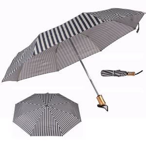 Fold umbrella with elegant stripes