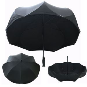 New Innovation Patent Big Unique Flower Shape Black Umbrellas