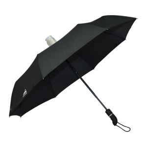Wholesale Black Standard Size Non-drip Automatic 3 Folding UmbrellasTravel