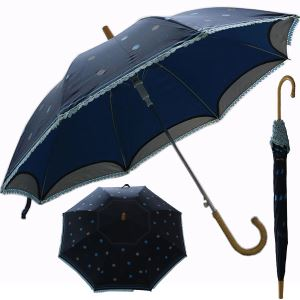 Automatic double layer straight umbrella