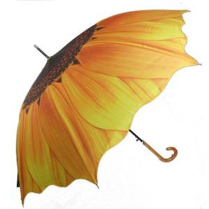 Sunflower Full Printing 3 Fold Umbrella For Sale