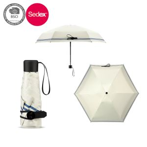 6 Panels 5 Fold Pouch Umbrella