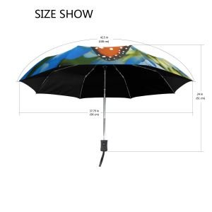 Animal Butterfly Floral Flower Auto Open Compact Portable Travel Umbrella