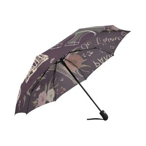 Custom auto open foldable umbrella with printing pattern