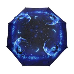 Cat Moon Automatic Open Umbrella