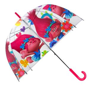 Children,Kids,Umbrella,Official Trolls(Pattern Poppy)&Transparent Umbrella