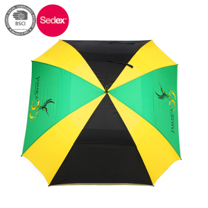 Colorful Advertising Straight Square Rain Umbrella