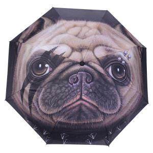 Dog Head Three Fold Sunny Umbrella Outdoor Use