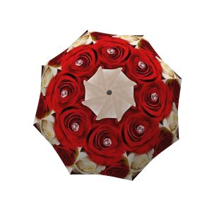 Roses Designer Unique Travel Art Umbrella In Stylish Gift Box